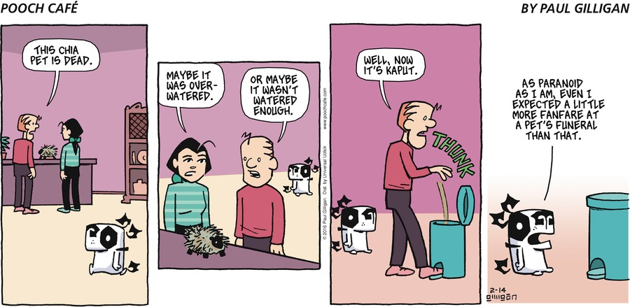 Pooch Cafe Comic Strip for February 14, 2016