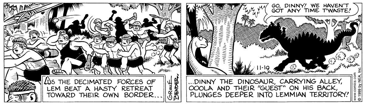 Alley Oop for November 19, 1999 Comic Strip