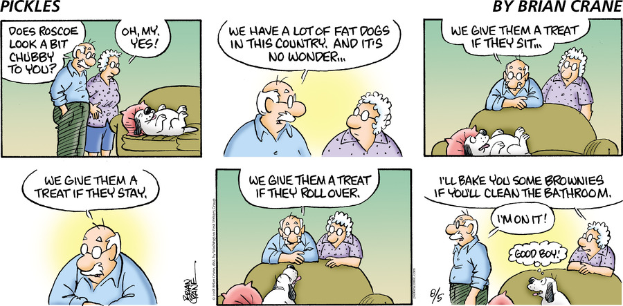Pickles Comic Strip for August 05, 2018