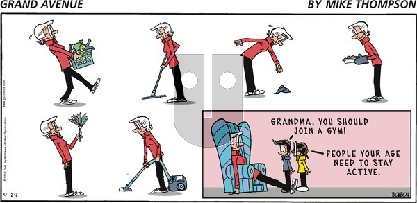 Grand Avenue on Sunday September 29, 2019 Comic Strip