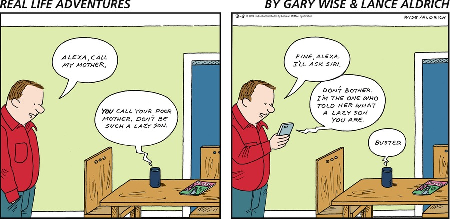 Real Life Adventures by Gary Wise and Lance Aldrich for March 03, 2019