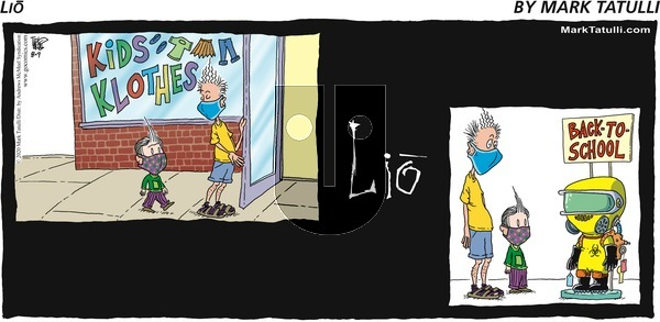 Lio on Sunday August 9, 2020 Comic Strip