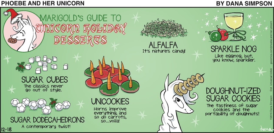 """Marigold's Guide to Unicorn Holiday Desserts