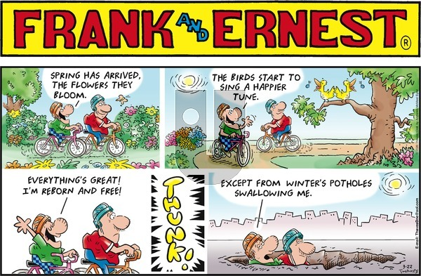 Frank and Ernest on Sunday March 22, 2020 Comic Strip