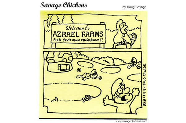 Savage Chickens Comic Strip for March 13, 2013