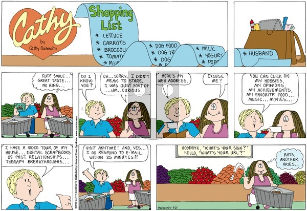 Cathy Classics on Sunday July 21, 2013 Comic Strip