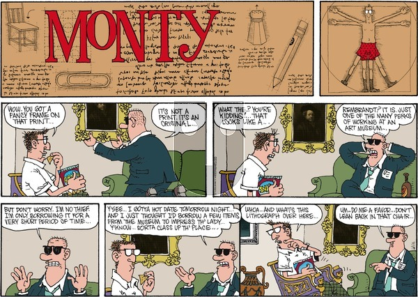 Monty on Sunday October 18, 2015 Comic Strip