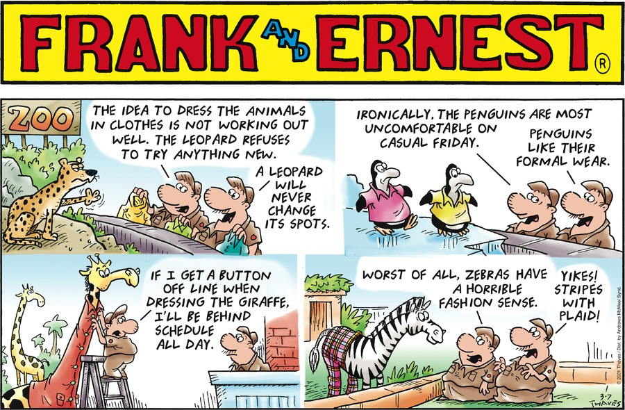 Frank and Ernest Comic Strip for March 07, 2021