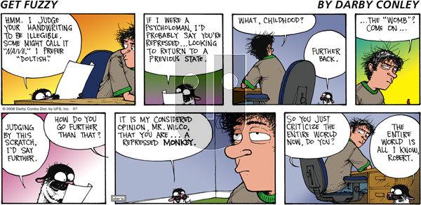 Get Fuzzy on Sunday September 7, 2008 Comic Strip
