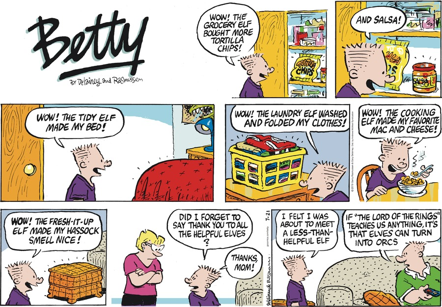 Betty Comic Strip for July 21, 2019