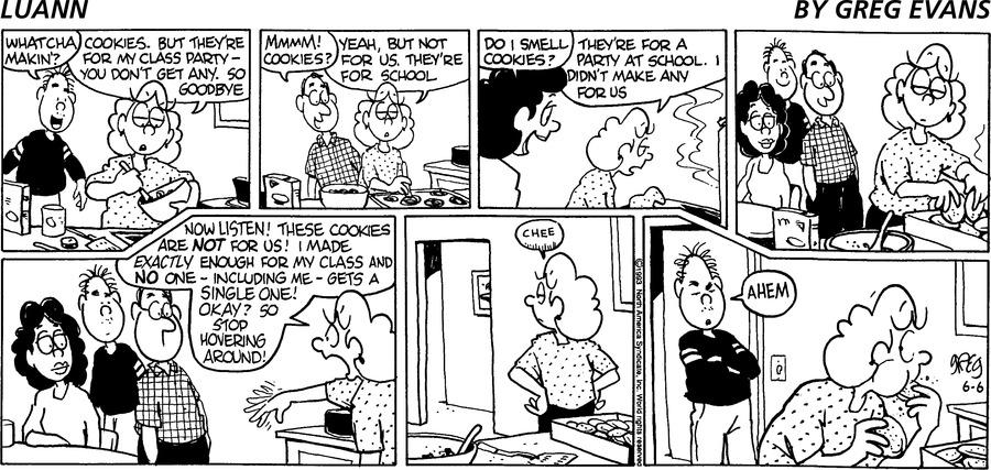 Luann Againn Comic Strip for June 06, 2021