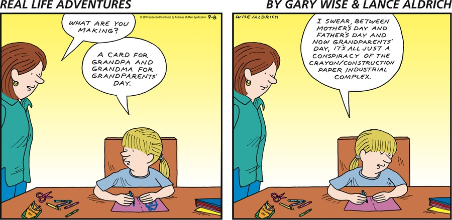 Real Life Adventures by Gary Wise and Lance Aldrich for September 08, 2019