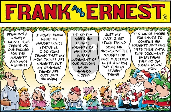 Frank and Ernest on December 9, 2018 Comic Strip