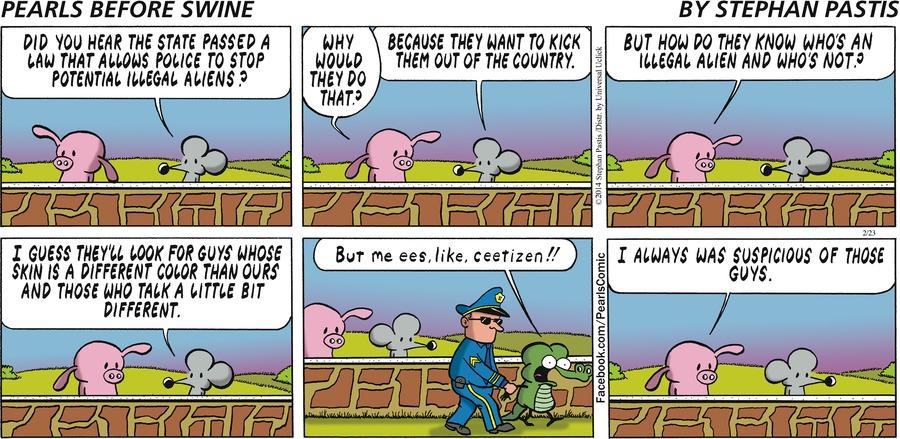 Pearls Before Swine for Feb 23, 2014 Comic Strip