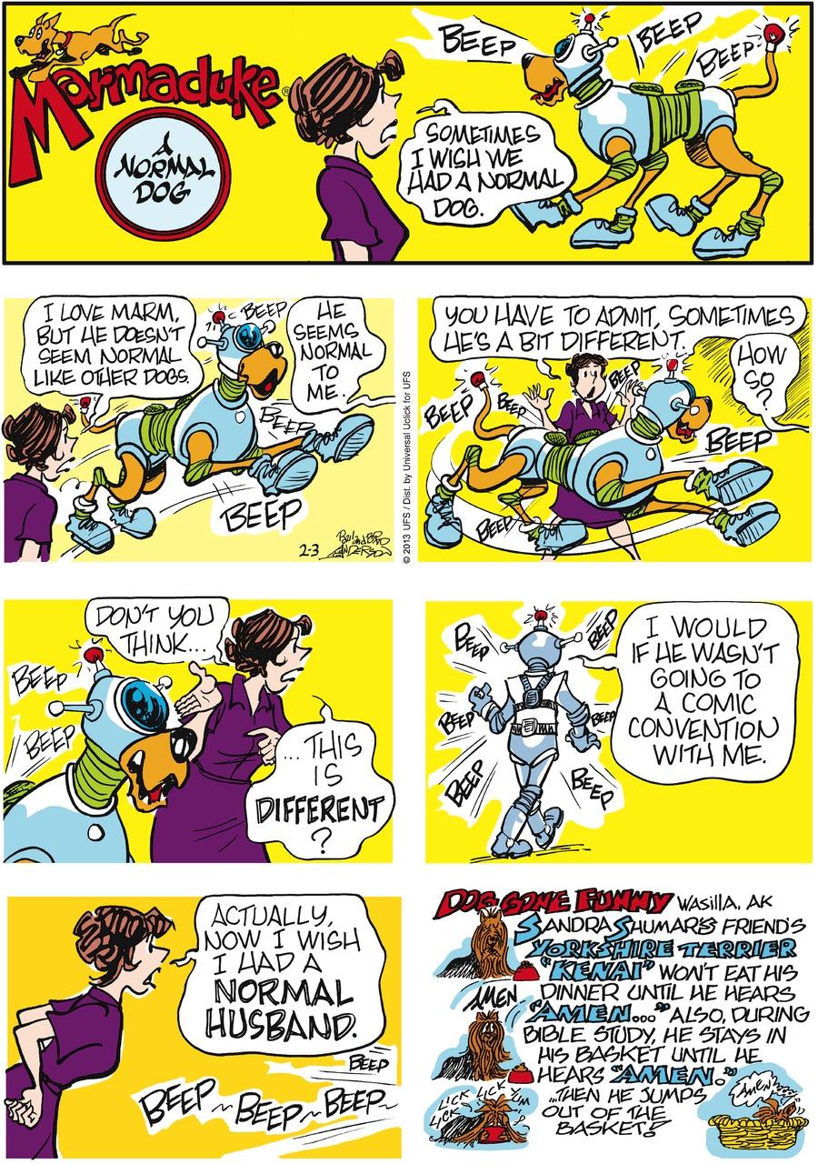 Marmaduke for Feb 3, 2013 Comic Strip