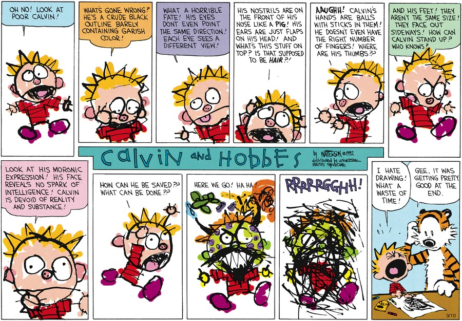 Calvin and Hobbes Comic Strip for April 26, 1992