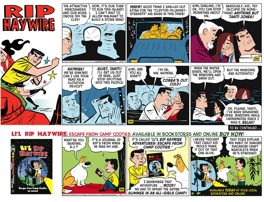 Rip Haywire Comic Strip for November 06, 2016