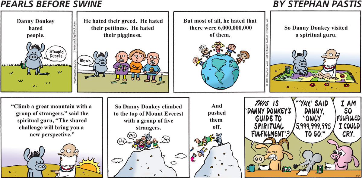 Pearls Before Swine Comic Strip for January 24, 2010