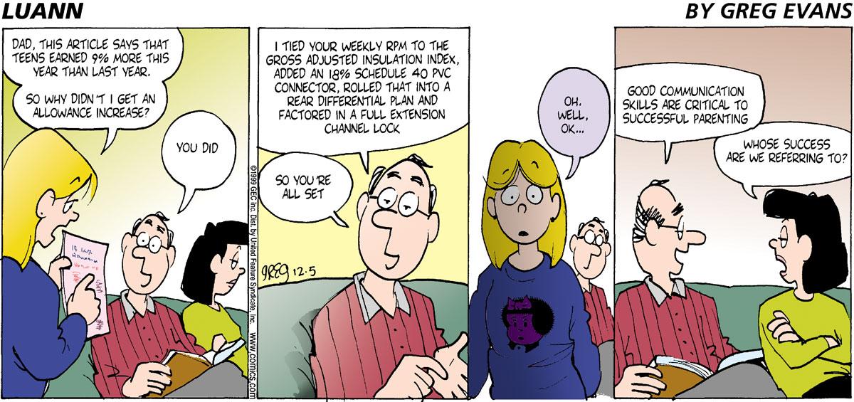 Luann for Dec 5, 1999 Comic Strip