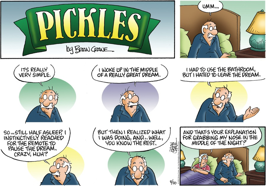 Pickles Comic Strip for August 30, 2015