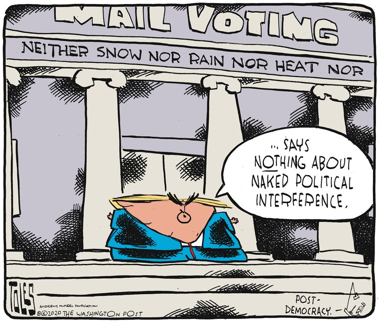 Tom Toles Comic Strip for August 16, 2020