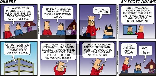 Dilbert on Sunday April 30, 2017 Comic Strip