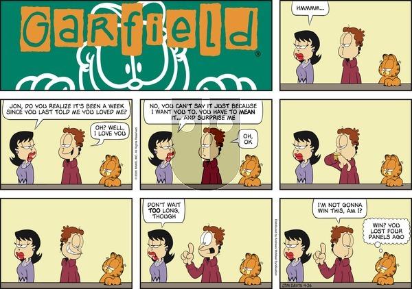 Garfield on Sunday April 26, 2020 Comic Strip