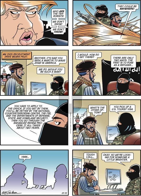 Doonesbury on Sunday January 10, 2016 Comic Strip