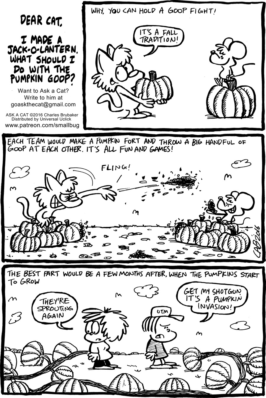 Ask a Cat for Oct 30, 2016 Comic Strip