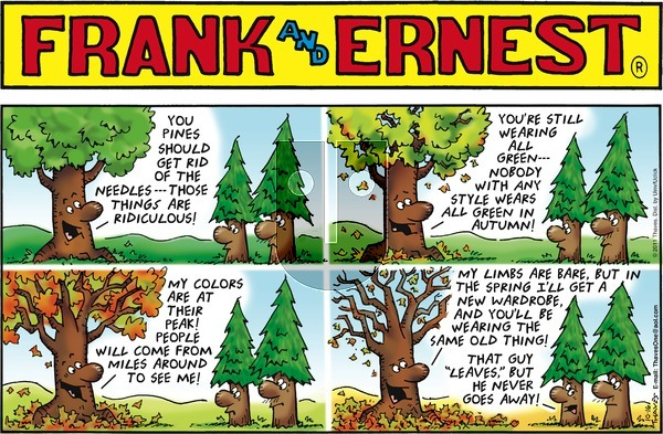 Frank and Ernest on Sunday October 16, 2016 Comic Strip