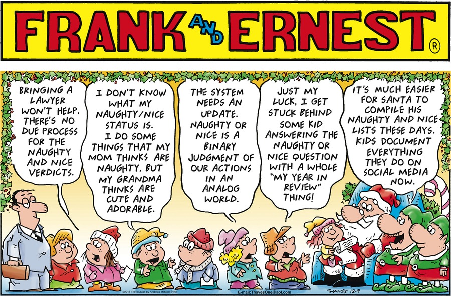 Frank and Ernest Comic Strip for December 09, 2018