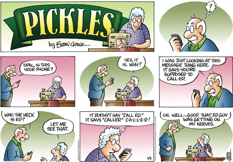 Pickles for Feb 3, 2013 Comic Strip