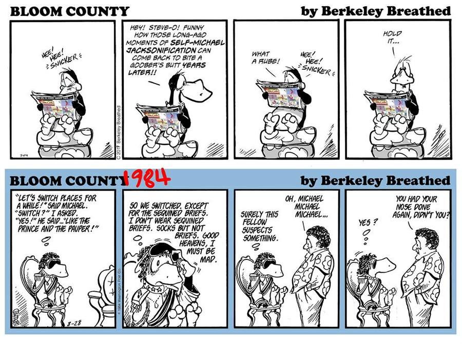 Bloom County 2018 by Berkeley Breathed for February 21, 2019