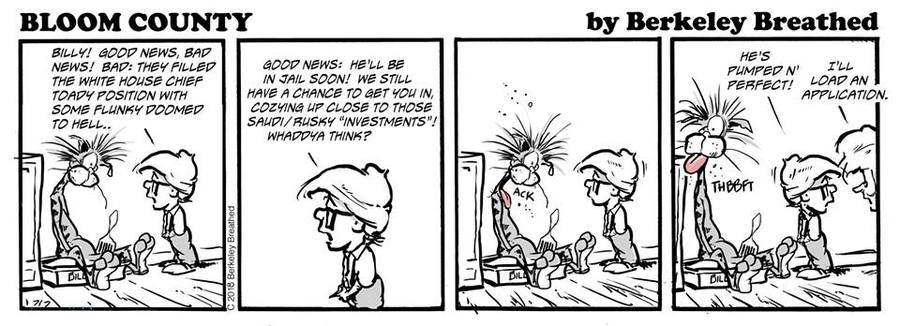 Bloom County 2018 by Berkeley Breathed for December 22, 2018