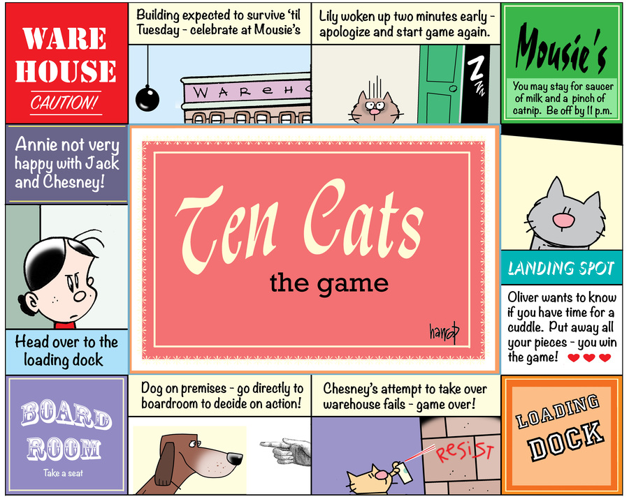 Ten Cats by Graham Harrop for March 03, 2019