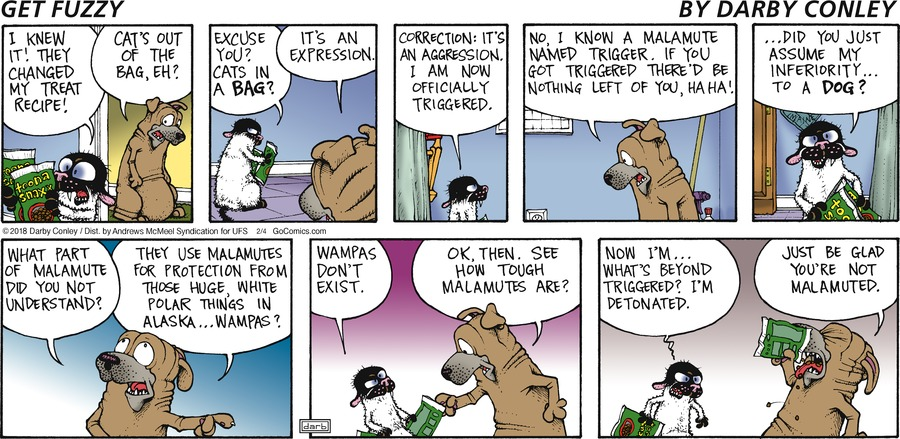 Get Fuzzy Comic Strip for February 04, 2018