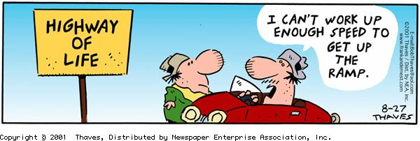 Frank and Ernest Comic Strip for August 27, 2001