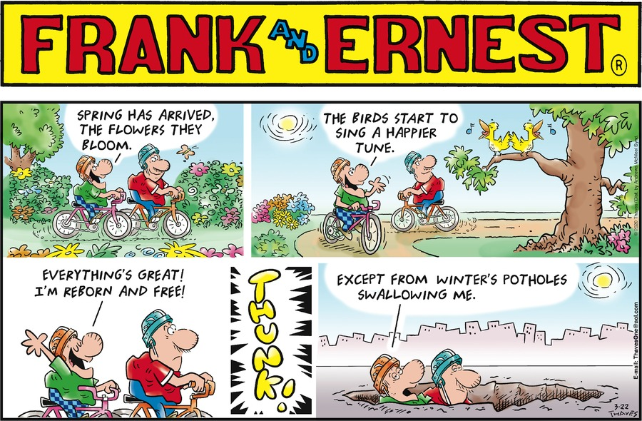 Frank and Ernest Comic Strip for March 22, 2020