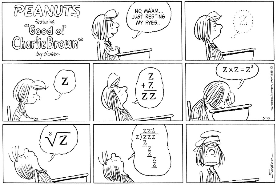 Peanuts Comic Strip for March 06, 1983