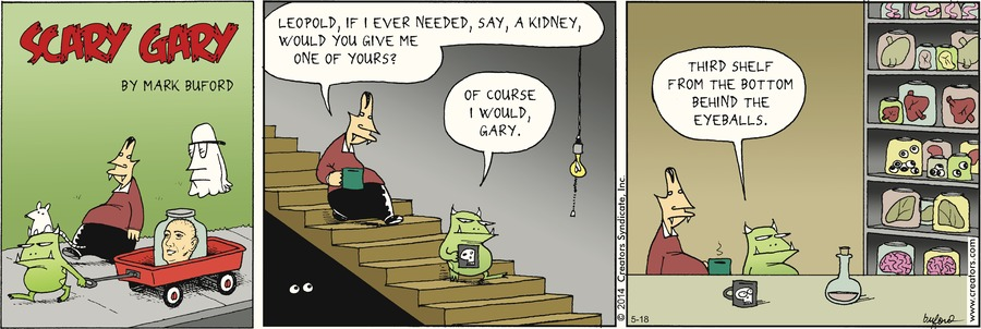Scary Gary Comic Strip for May 18, 2014