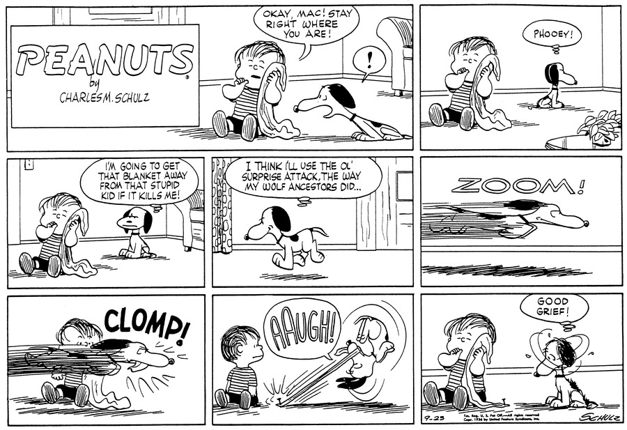 Peanuts Comic Strip for September 23, 1956