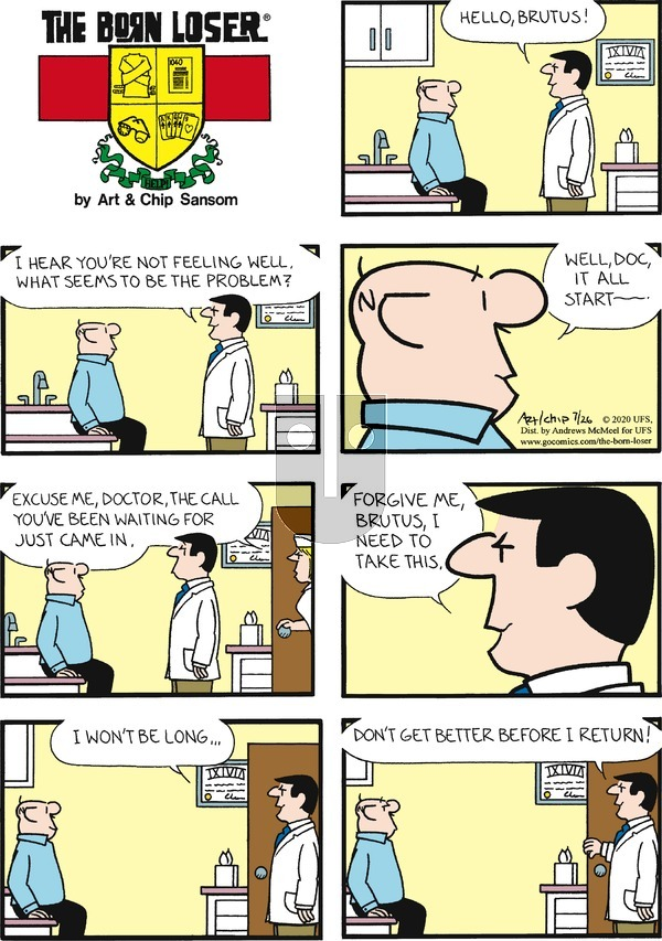 The Born Loser - Sunday July 26, 2020 Comic Strip