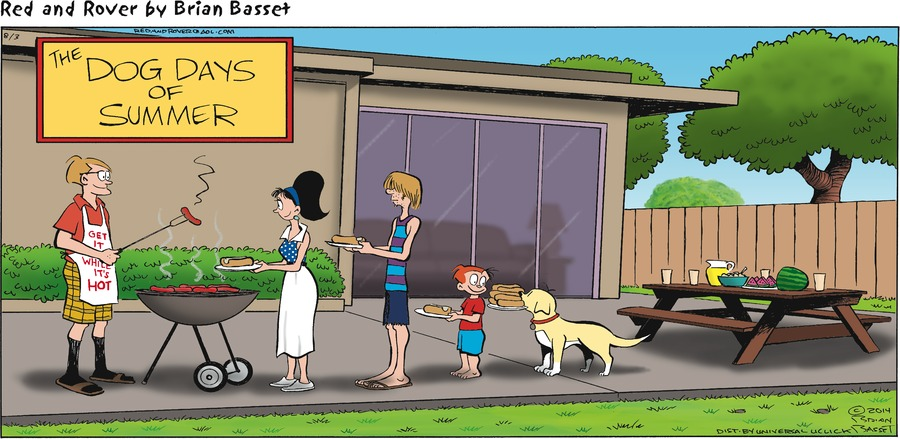 Red and Rover for Aug 3, 2014 Comic Strip