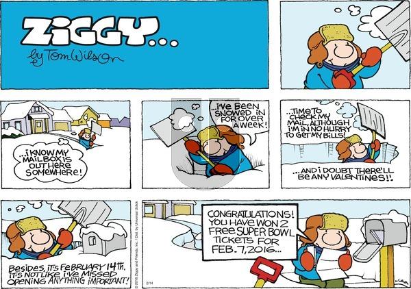 Ziggy on Sunday February 14, 2016 Comic Strip
