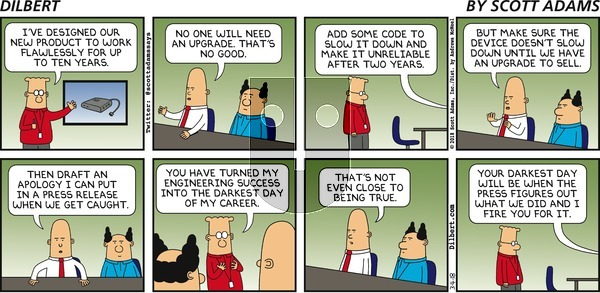 Dilbert on March 4, 2018 Comic Strip