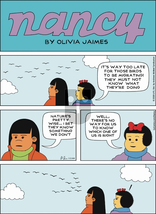 Nancy - Sunday January 5, 2020 Comic Strip