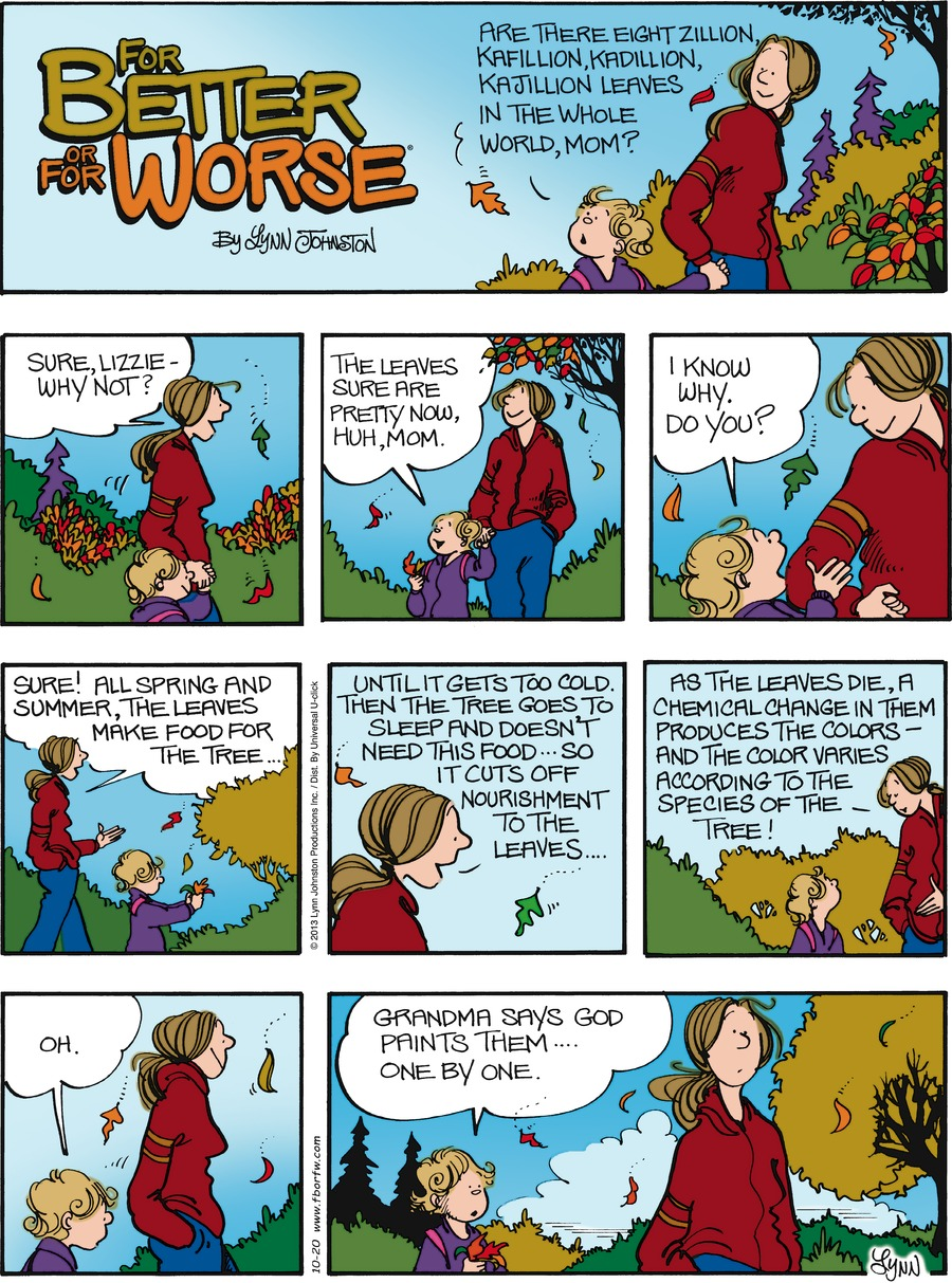 For Better or For Worse Comic Strip for October 20, 2013