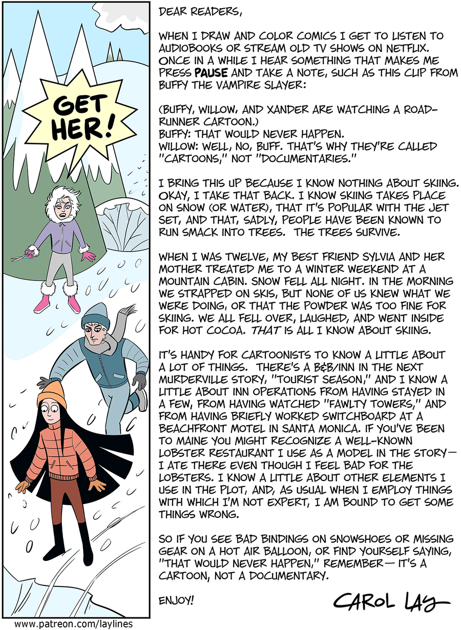 Lay Lines Comic Strip for February 20, 2016