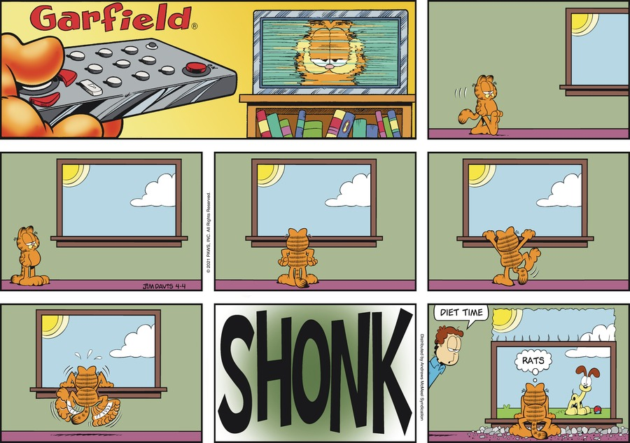 Garfield Comic Strip for April 04, 2021