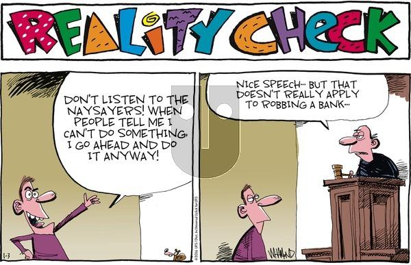 Reality Check on Sunday January 3, 2016 Comic Strip